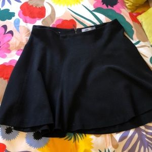 Old Navy Black Ponte Skater Skirt